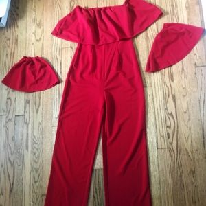 Pants - Red Jumpsuit